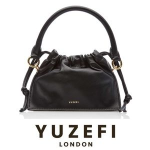 Yuzefi black Bom leather mini bag NWT